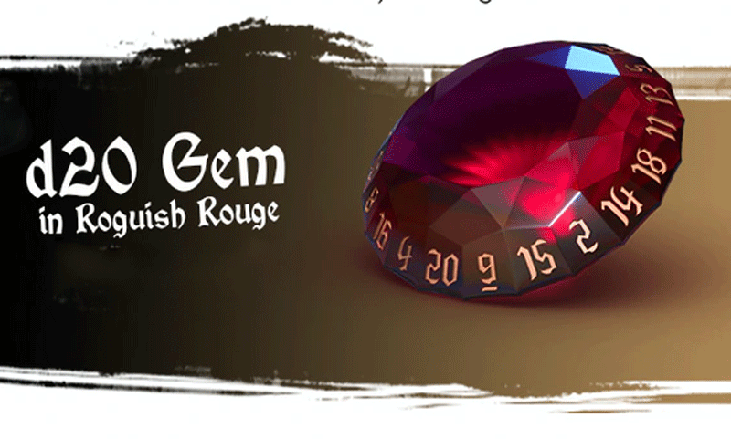 d20 Gem: Roguish Rouge